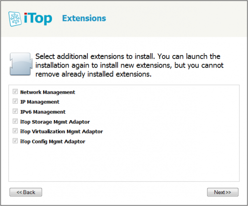 Select IP Management in the extensions list